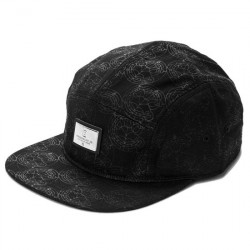 Кепка Crooks and Castles The Coronation 5 Panel Hat in Black