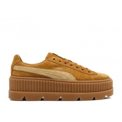 Кроссовки Rihanna x PUMA Fenty CLEATED CREEPER SUEDE Golden/Brown