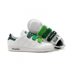 Кроссовки Adidas Stan Smith CF Velcro White Green
