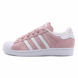 Кроссовки Adidas Superstar Suede Pink White