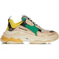 Кроссовки Balenciaga  Triple S Beige Green Yellow