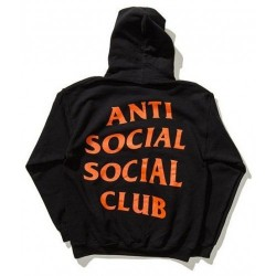 Толстовка Anti Social social club Undefeated , черная